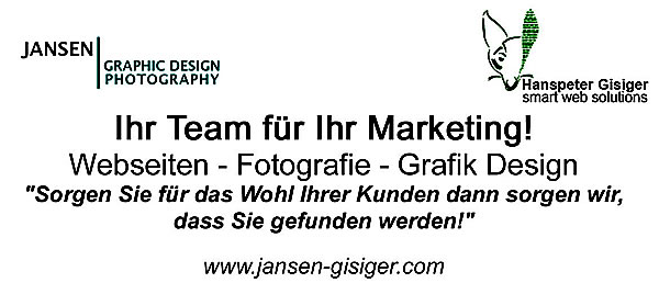 Designed by Natascha Jansen Photography - Hanspeter Gisiger smart web solutions